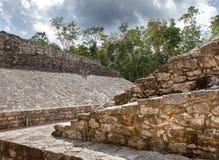 Ett Mayan bollfält, Yucatan, Mexico Arkivbilder