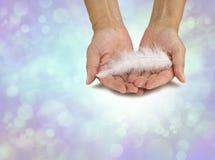 Ett meddelande från din ängel royaltyfri fotografi