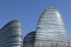 Ett modernt arkitektoniskt särdrag arkivbild