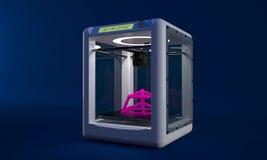 Ett modernt förundra sig är de nya skrivarna 3D som kan göra mest något av plast- Royaltyfria Bilder