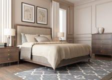 Ett modernt sovrum stock illustrationer