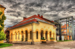 Ett museum i Ljubljana, Slovenien Royaltyfri Bild