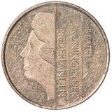 ett mynt för holländsk gulden Arkivbild