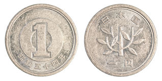 ett mynt för japansk yen Fotografering för Bildbyråer