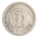 ett mynt för japansk yen Royaltyfri Fotografi
