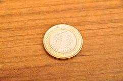 Ett mynt för turkisk lira royaltyfri bild