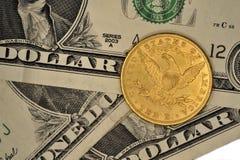 Ett mynt tio dollar guld Royaltyfria Foton