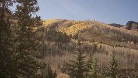 Ett nedgång slåget Colorado berg Fotografering för Bildbyråer
