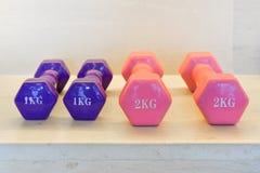 Ett och två kg vikt Royaltyfria Bilder