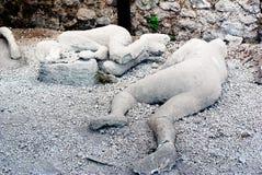Ett offer i Pompeii av utbrottet av Mt Vesuvius Arkivbilder