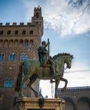 Ett olikt perspektiv av piazza Signoria i Florence Fotografering för Bildbyråer