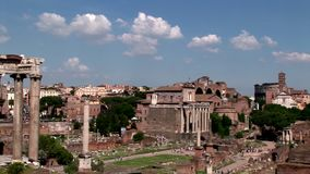 Ett Pan View Of The Roman forum lager videofilmer