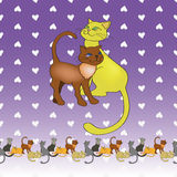 Ett par av katter Royaltyfri Bild