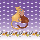Ett par av katter Royaltyfria Bilder