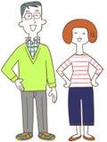 Ett par med ett leende vektor illustrationer