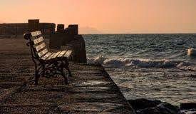 Ett perfekt ställe som tycker om solnedgången Royaltyfri Foto