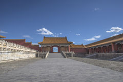 Ett porttorn i Forbidden City Royaltyfri Bild