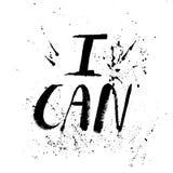 Ett positivt ord, appeller för handling Uttryck för motivation, för en affisch, för en printing, T-skjortor bokstäver vektor illustrationer