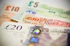 Ett pund sterling Arkivbild