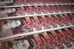 Ett pund sterlingsedel för femtio damm Arkivfoton