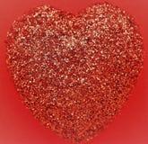 Ett rött blänker hjärta Royaltyfria Foton