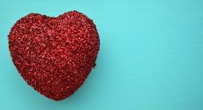 Ett rött blänker hjärta Fotografering för Bildbyråer