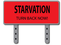 Svält undertecknar begrepp Arkivfoto