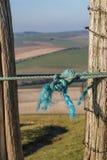 Ett rep på ett staket royaltyfri foto
