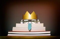 Ett roligt begrepp av utbildning, framgång; unikhet royaltyfri foto