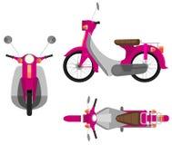 Ett rosa motorfordon vektor illustrationer