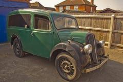 Ett sällsynt fynd, gamla Morris Delivery Van. royaltyfria bilder