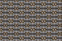 Ett sömlöst och att upprepa modellen av vävde geometriska former royaltyfria bilder