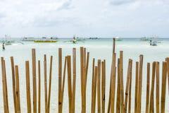 Ett satt på land bambustaket Royaltyfria Foton