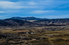 Ett sceniskt Wyoming landslandskap Arkivfoton