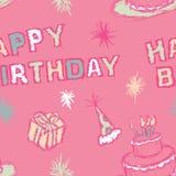 Den Seamless födelsedagen mönstrar Royaltyfri Bild