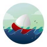 Ship i havet stock illustrationer