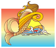 Ett sjöjungfrubarn Royaltyfri Bild