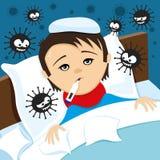 Ett sjukt barn vektor illustrationer
