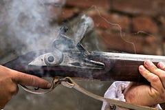 Ett skott av de gamla gevären Royaltyfri Fotografi