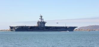 Ett skott av USS Carl Vinson (CVN-70) Royaltyfria Bilder