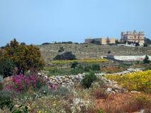 Ett slott på en rund kulle Royaltyfria Foton