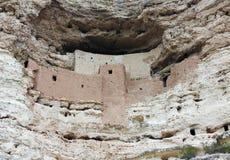 Ett slut upp av den nationella monumentet för Montezuma slott Fotografering för Bildbyråer