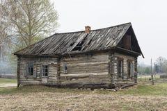 Ett spökat hus i ryss royaltyfria foton