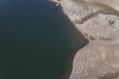 Ett spanskt träsk med lågvattennivån arkivfoto
