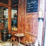 Ett ställe som dricker ditt vin royaltyfri bild