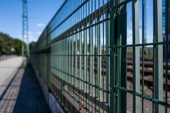 Ett staket i Hamburg arkivbilder
