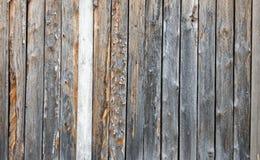 Ett staket som göras av bräden Arkivbild