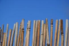 Ett staket som göras av ris Royaltyfri Foto