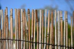 Ett staket som göras av risträdgård Arkivbilder