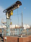 Ett stationärt hissar och att lyfta avtryckaremekanismen Arkivbild